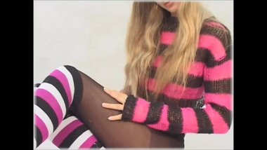 Most sexy lady pantyhose nylon