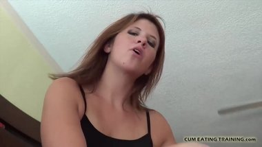 I will talking dirty to you while you eat your cum CEI