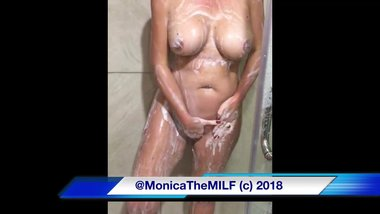 Monica The Milf Shower Time Masturbation Fun
