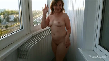 Balcony flashing MILF