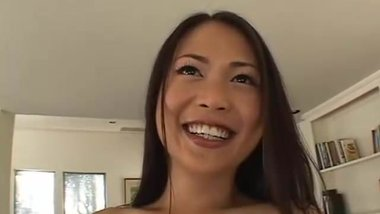 Tight Asian Import Takes 2 White Cocks
