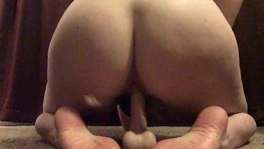Wife plays with dildo while husband is away