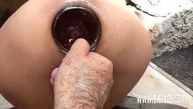 Brutal anal fisting and bottle fucked amateur Latina