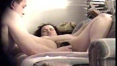 Spy Cam:Busty BBW Takes All 10 Inches In Her Hairy Cunt