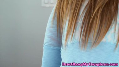Teenage amateur seduces her horny stepdad