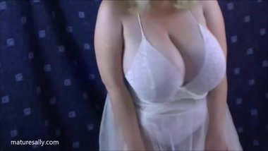 One of my early videos in a white negligee