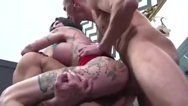 Rough anal and eat cum