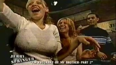 Jerry Springer - Cute girl with big tits & hard nipples