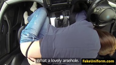 Uk amateur ass fucked by uniformed cop POV