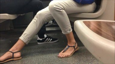 Candid Feet in Sandals