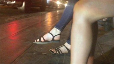 Candid Feet at Night
