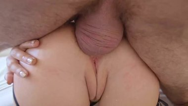 lovely babe gets her asshole filled by a hard cock