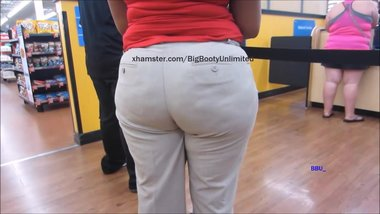 Dimple Big Booty Beige Slacks
