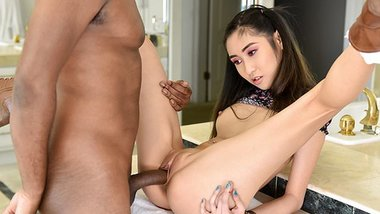 TLBC - Slutty Tight Teen Gets Penetrated By Huge Black Schlo