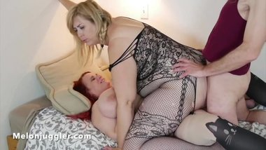 Husband & Wife DP busty blonde Lila Lovely