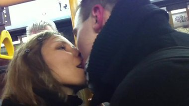 Couple Shamelessly Tongue Kissing on the Bus